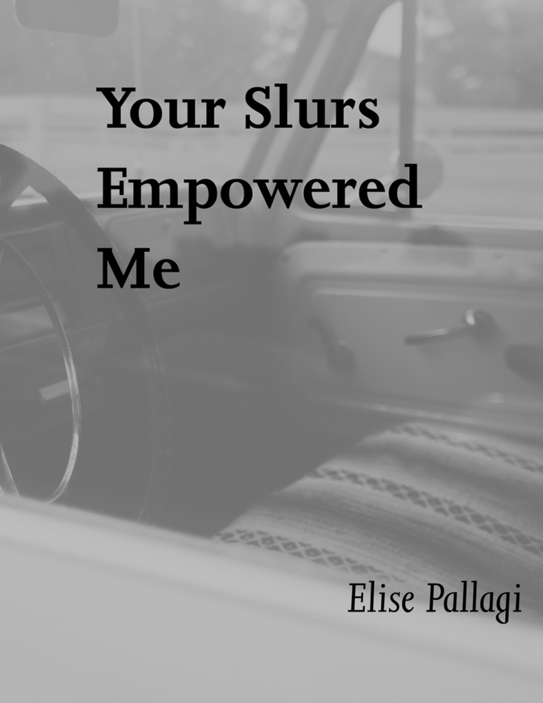 """Your Slurs Empowered Me"" By Elise Pallagi, 2017"